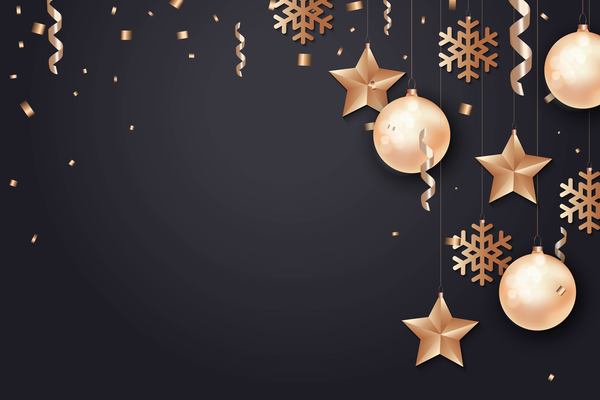 2018 new year dark background with confetti festival vector 01