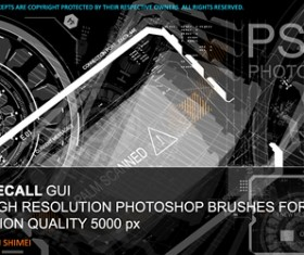 22 Total Recall GUI Photoshop Brushes