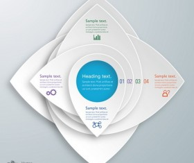 3D paper infographic template vectors material 12
