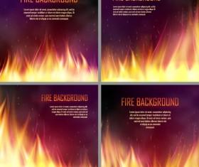 4 Kind  fire background vectors