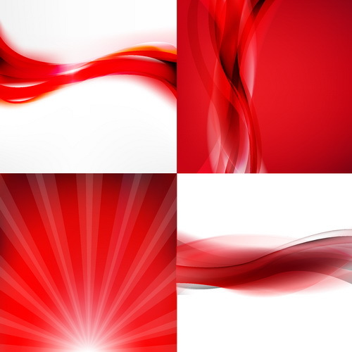 4 Kind red abstract illustration vector