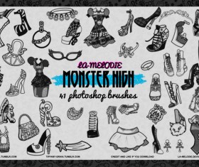 41 Monster High Photoshop Brushes