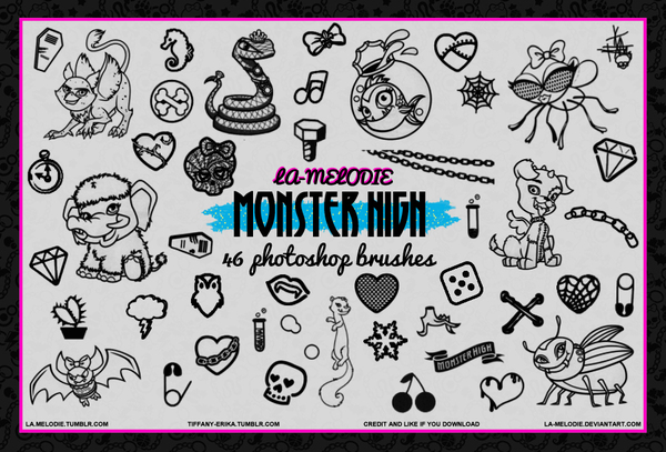 46 Monster High Photoshop Brushes