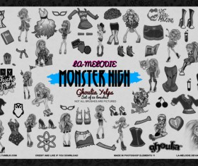 63 Monster High Photoshop Brushes