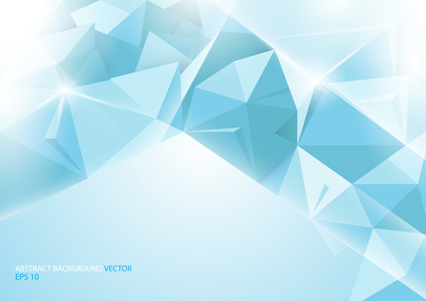 Abstract blue background with geometric concept vector