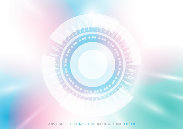 Abstract circle technology background with geometric concept vector