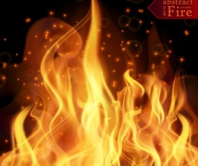 Abstract fire with blurs background vector 01