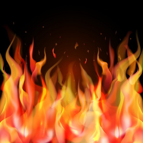 Abstract fire with blurs background vector 02