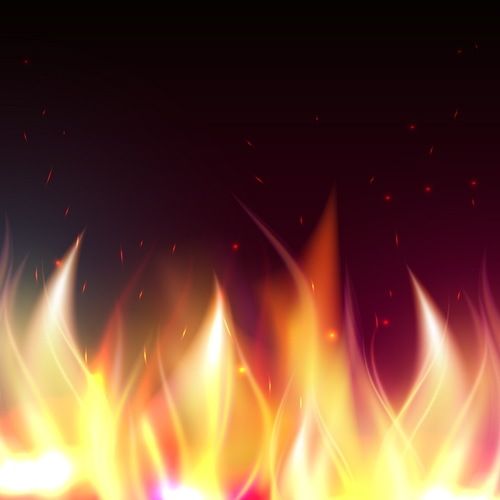Abstract fire with blurs background vector 03