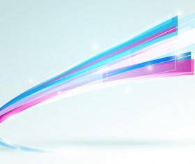 Abstract lines curve stripe on bright background vector