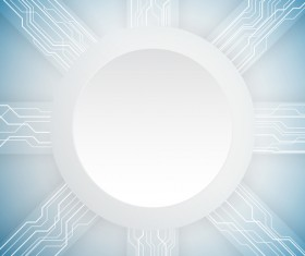 Abstract technology circle shape space for your text vector background