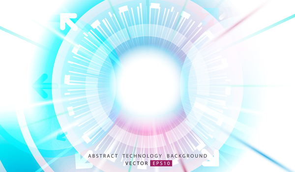 Abstract technology geometric and circle vector background