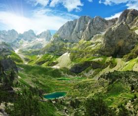 Alps mountain meadow landscape Stock Photo 03