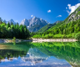 Alps mountain meadow landscape Stock Photo 05