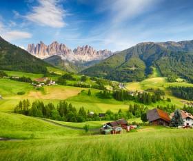 Alps mountain meadow landscape Stock Photo 07