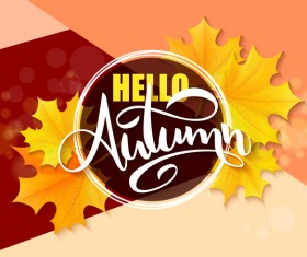 Autumn art background vectors 01