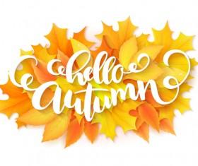 Autumn art background vectors 03