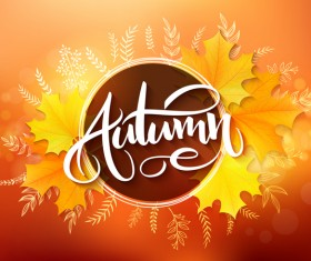 Autumn art background vectors 04