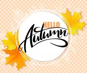 Autumn art background vectors 05