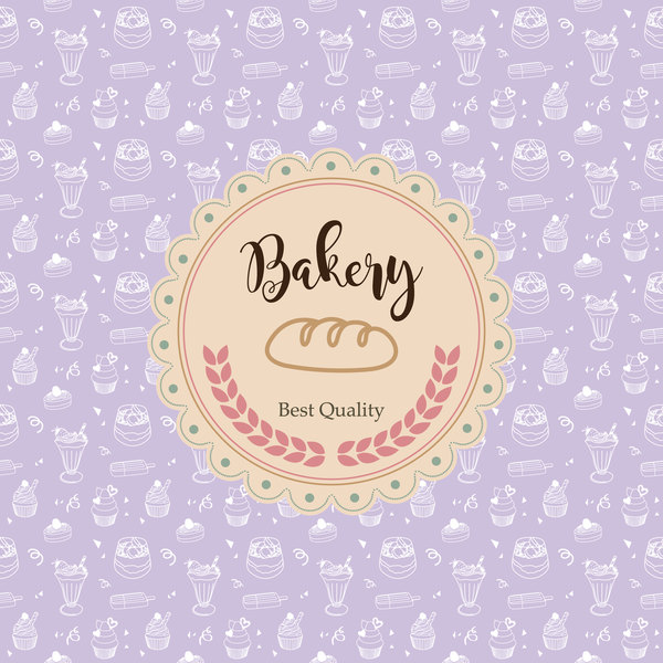 Bakery labels with background vector