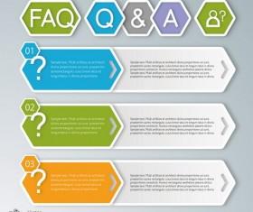 Banner infographic modern design vector