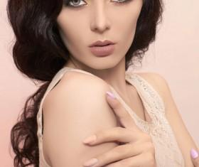 Beautiful and charming woman Stock Photo 02