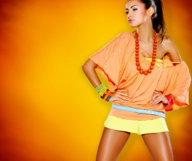 Beautiful fashion model Stock Photo 01