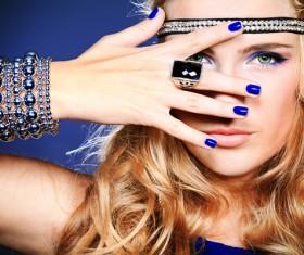 Beautiful fashion model Stock Photo 03