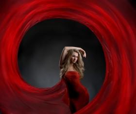 Beautiful fashion model Stock Photo 04
