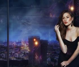 Beautiful fashion model Stock Photo 09