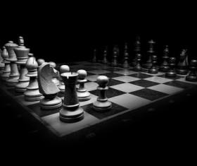 Black and white chess Stock Photo