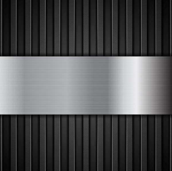 Black stripe metal background vector