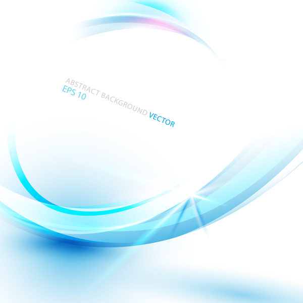 Blue abstract technology backround. Line curve concept vector design