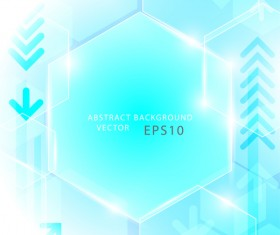 Blue abstract technology hexagon and geometric concept vector
