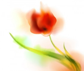 Blurs flower illustration vector 06