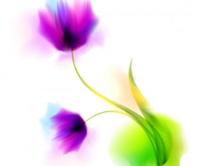 Blurs flower illustration vector 07