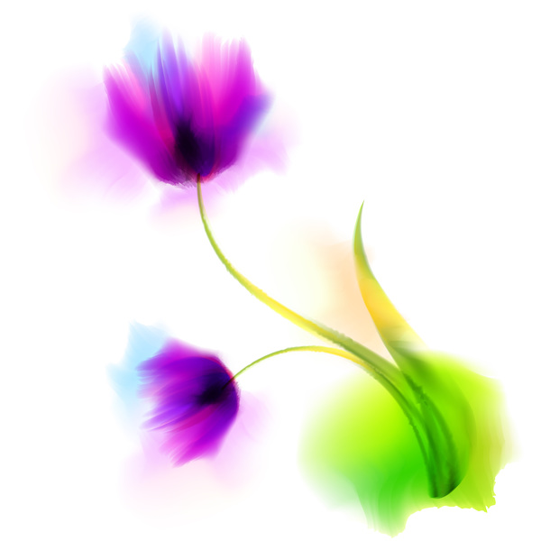 Blurs flower illustration vector 07