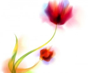Blurs flower illustration vector 08