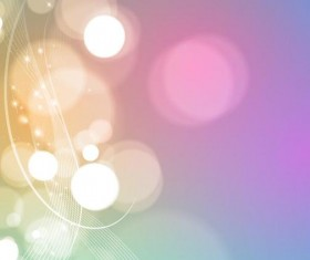 Bokeh background with abstract wavy lines vector 02