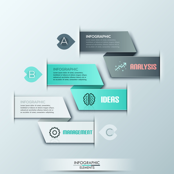 Bookmarks infographic template vector