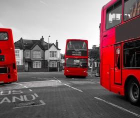 British red bus Stock Photo