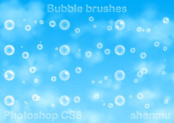 Bubble light halo Photoshop Brushes