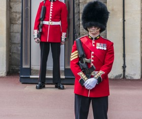 Buckingham Palace guard Stock Photo 01