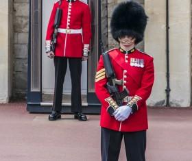 Buckingham Palace guard Stock Photo 01