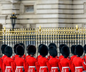 Buckingham Palace guard Stock Photo 02