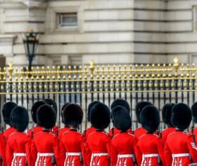 Buckingham Palace guard Stock Photo 02