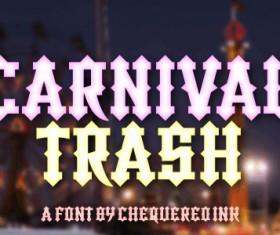 Carnival Trash Font
