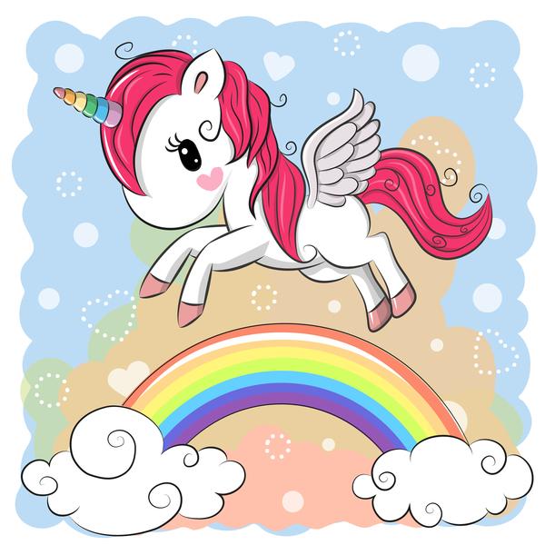 Cartoon unicorns cute vectors 03