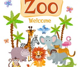 Cartoon zoo illustration vector 03