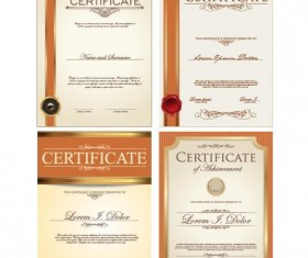 Certificate template vector kits 01
